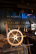 Nautical items on display in the Waterfront Museum & Showboat Barge, in Lehigh Vallery Barge no. 79, docked in Brooklyn's Red Hook neighborhood.