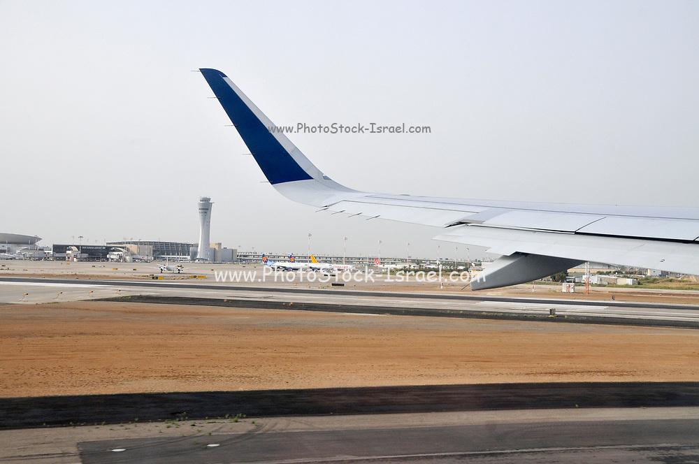 Ben Gurion International Airport, Israel as seen at take off