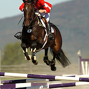 Jan Byyny (USA) and Syd Kent at the 2007 Bromont Fall Horse Trials held September 20 - 23 at the 1976 Olympic site in Bromont, Quebec, Canada.