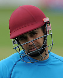 Somerset's Johann Myburgh - Photo mandatory by-line: Harry Trump/JMP - Mobile: 07966 386802 - 30/03/15 - SPORT - CRICKET - Pre Season Fixture - T20 - Somerset v Gloucestershire - The County Ground, Somerset, England.