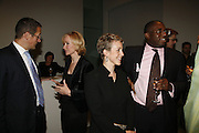 Richard Quest and  Louise T Blouin MacBain, Nicola Green and David Lammy. THE LOUISE T BLOUIN INSTITUTE OPENS WITH INAUGURAL EXHIBITION: James Turrell: A Life in Light Exhibition. OLAF ST. LONDON. 12 OCTOBER 2006.  -DO NOT ARCHIVE-© Copyright Photograph by Dafydd Jones 66 Stockwell Park Rd. London SW9 0DA Tel 020 7733 0108 www.dafjones.com