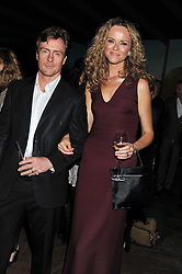 TOBY STEPHENS and ANNA LOUISE PLOWMAN at a dinner hosted by Calvin Klein Collection to celebrate the future Home of The Design Museum at The Commonwealth Institute, Kensington, London on 13th October 2011.