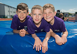 Children pose for a photo - Photo mandatory by-line: Dougie Allward/JMP - Mobile: 07966 386802 - 06/06/2015 - SPORT - Multi-Sport - Bristol - SGS Wise Campus - Bristol Sport Festival Of Youth Sport - Festival Of Youth