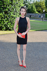 ELLA CATLIFF at The Ralph Lauren & Vogue Wimbledon Summer Cocktail Party at The Orangery, Kensington Palace, London on 22nd June 2015.  The event is to celebrate ten years of Ralph Lauren as official outfitter to the Championships, Wimbledon.