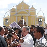 Pres. George W. Bush and Guatemalan Pres. Oscar Berger tour Santa Cruz Balanya Town Square Monday, March 12, 2007.<br /> <br /> Photo by Khue Bui