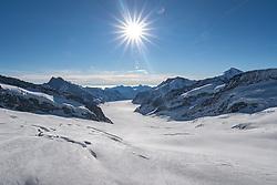 15.01.2020, Jungfraujoch, Wengen, SUI, FIS Weltcup Ski Alpin, Sightseeing Tour, im Bild Aletschgletscher // Aletschgletscher during a sightseeing tour of FIS ski alpine world cup at the Jungfraujoch in Wengen, Switzerland on 2020/01/15. EXPA Pictures © 2020, PhotoCredit: EXPA/ Johann Groder