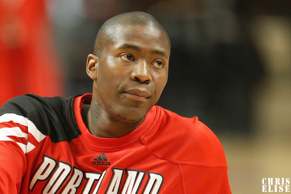 16 March 2012: Portland Trail Blazers guard Jamal Crawford (11) is seen prior to the Portland Trail Blazers 100-89 victory over the Chicago Bulls at the United Center, Chicago, Illinois, USA.