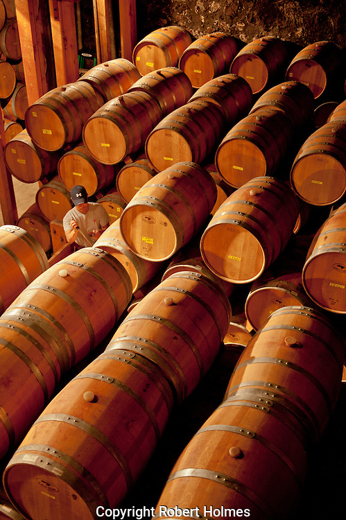 Barrel room at Ridge Vineyards, Santa Cruz Mountains, Cupertino, California