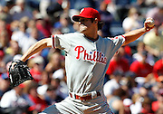 ATLANTA - OCTOBER 3:  Pitcher Cole Hamels #35 of the Philadelphia Phillies throws a pitch during the game against the Atlanta Braves at Turner Field on October 3, 2010 in Atlanta, Georgia.  The Braves beat the Phillies 8-7.  (Photo by Mike Zarrilli/Getty Images)