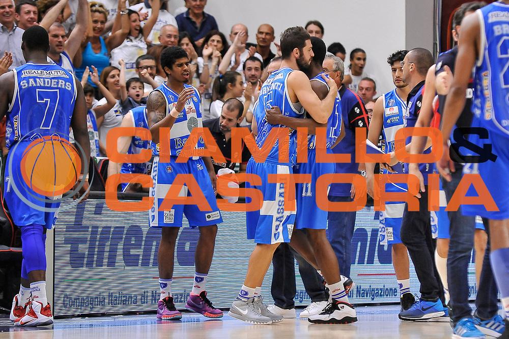 DESCRIZIONE : Campionato 2014/15 Serie A Beko Dinamo Banco di Sardegna Sassari - Grissin Bon Reggio Emilia Finale Playoff Gara6<br /> GIOCATORE : Ritratto Esultanza<br /> CATEGORIA : Fair Play<br /> SQUADRA : Dinamo Banco di Sardegna Sassari<br /> EVENTO : LegaBasket Serie A Beko 2014/2015<br /> GARA : Dinamo Banco di Sardegna Sassari - Grissin Bon Reggio Emilia Finale Playoff Gara6<br /> DATA : 24/06/2015<br /> SPORT : Pallacanestro <br /> AUTORE : Agenzia Ciamillo-Castoria/C.Atzori