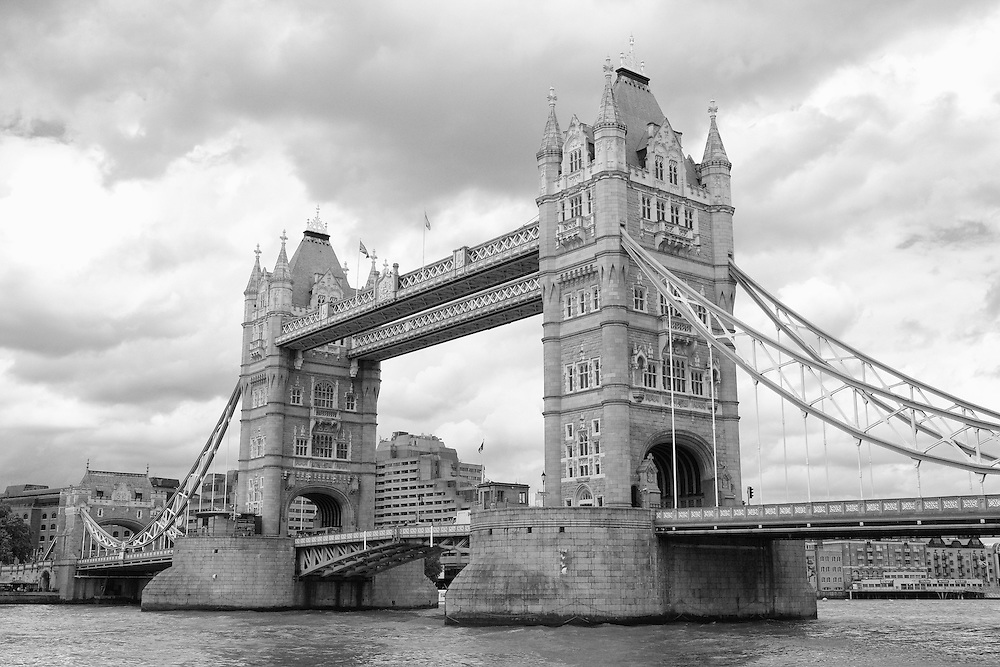 Tower Bridge Close - London, UK - Black & White