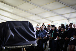 JOHANNESBURG, March 29, 2017  Economic Freedom Fighters (EFF) leader Julius Malema , Winnie Madikizela-Mandela , ex-wife of the late South African President Nelson Mandela, and former South African President Kgalema Motlanthe (4th R) attend the funeral of Ahmed Kathrada at Westpark Cemetery in Johannesburg, South Africa, on March 29, 2017. South African anti-apartheid stalwart Ahmed Kathrada died in the early hours of Tuesday morning at the age of 87.  sxk) (Credit Image: © Zhai Jianlan/Xinhua via ZUMA Wire)