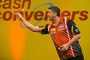 Mensur Suljovic during the Cash Converters Players Championship Final at Butlins, Minehead, United Kingdom on 25 November 2016. Photo by Shane Healey.