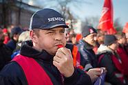 no Siemens job cuts protest