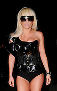 14.JAN.2009 - LONDON<br /> <br /> NEW US POP SENSATION LADY GAGA LEAVING A TV STUDIO IN NOTTING HILL IN A LATEX CORSET WITH HOT PANTS AND LATEX BOOTS.<br /> <br /> BYLINE MUST READ : EDBIMAGEARCHIVE.COM<br /> <br /> *THIS IMAGE IS STRICTLY FOR UK NEWSPAPERS &amp; MAGAZINES ONLY* <br /> *FOR WORLDWIDE SALES OR WEB USE PLEASE CONTACT EDBIMAGEARCHIVE ON 0208 954 5968*