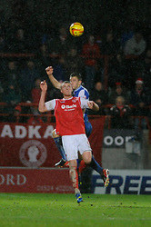 Bristol Rovers' Tom Lockyer wins a header - Photo mandatory by-line: Dougie Allward/JMP - Tel: Mobile: 07966 386802 14/12/2013 - SPORT - Football - Morecombe - Globe Arena - Morecombe v Bristol Rovers - Sky Bet League Two