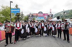 26.05.2017, Piancavallo, ITA, Giro d Italia 2017, 19. Etappe, Innichen (San Candido) nach Piancavallo, im Bild Mitglieder einer regionalen Trachten-Tanzgruppe // members of a local traditional dancing group during the 19 th stage of the 100 th Giro d Italia cycling race from Innichen (San Candido) to Piancavallo, Italy on 2017/05/26. EXPA Pictures © 2017, PhotoCredit: EXPA / Martin Huber