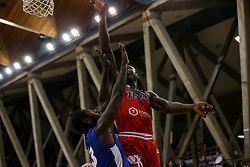 Daniel Edozie of Bristol Flyers jumps for a rebound - Photo mandatory by-line: Arron Gent/JMP - 28/09/2019 - BASKETBALL - Crystal Palace National Sports Centre - London, England - London City Royals v Bristol Flyers - British Basketball League Cup