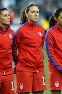 26 October 2014: Lauren Holiday (USA). The United States Women's National Team played the Costa Rica Women's National Team at PPL Park in Chester, Pennsylvania in the 2014 CONCACAF Women's Championship championship game. By advancing to the final, both teams have qualified for next year's Women's World Cup in Canada. The United States won the game 6-0.