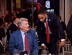 CARDIFF, WALES - Thursday, March 21, 2019: Former Wales manager John Toshack with current captain Ashley Williams during the Football Association of Wales Awards 2019 at the Hensol Castle. (Pic by David Rawcliffe/Propaganda)