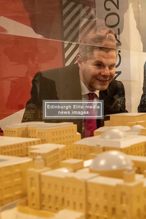 Finance Secretary Derek Mackay visits the Edinburgh St James Centre development ahead of the 2019-20 Scottish Budget.<br /> <br /> Mr Mackay will present the 2019-20 Scottish Budget on Wednesday 12th December.<br /> <br /> Edinburgh St James is a 1.7 million sq ft city centre development and one of the largest and most significant regeneration projects currently underway in the U.K. and the largest city-centre development Edinburgh has seen for decades. The scheme will strengthen Edinburgh's global standing by transforming the city's east end into an inspiring, attractive and vibrant destination.<br /> <br /> *PICTURES EMBARGOED UNTIL 00:01 ON WEDNESDAY 12 DECEMBER 2018*