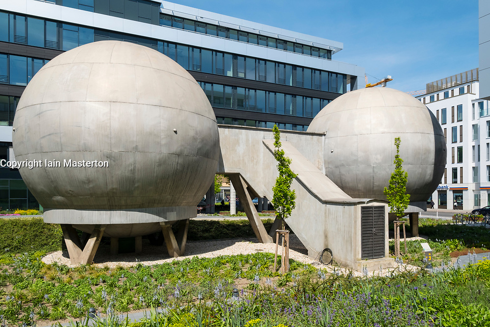 Old, doused, constant temperature ball laboratory at the Science and Technology Park in Adlershof Berlin, Germany