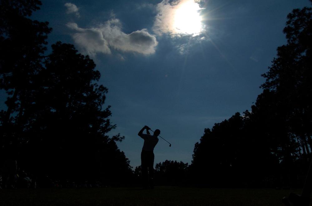 PINEHURST, NORTH CAROLINA - JUNE 17, 2005<br /> Retief GOOSEN during the 2nd Round of the 2005 U.S. Open Championship, held at Pinehurst No.2 in the Village of Pinehurst, North Carolina.
