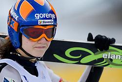 Julija Srsen of Slovenia competes during FIS Continental Cup Ski Jumping Ladies in Ljubno, on January 23, 2011, at K-85 in Ljubno ob Savinji, Slovenia. (Photo By Vid Ponikvar / Sportida.com)