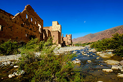 A ruined Glaoui Kasbah on the banks of the Oued N'Fis, Marrakech-Tensift-Al Haouz, Morocco<br /> <br /> (c) Andrew Wilson | Edinburgh Elite media