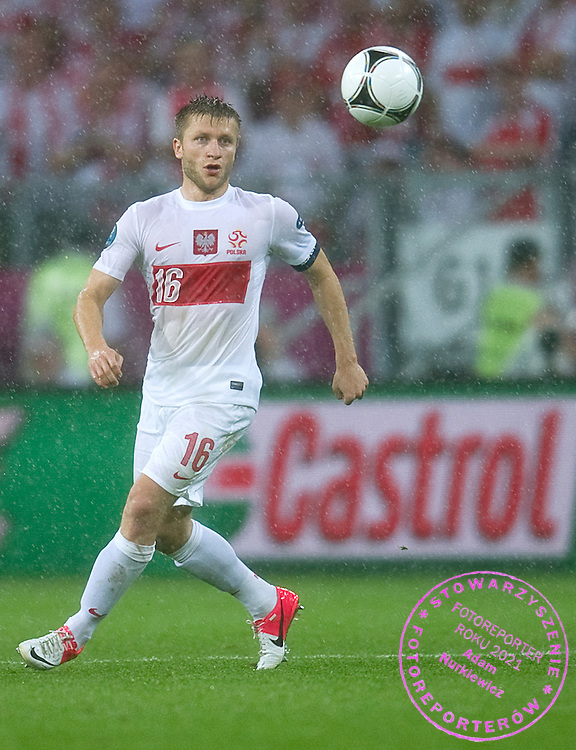 Poland's Jakub Blaszczykowski (nr16) controls the ball during the UEFA EURO 2012 Group A football match between Poland and Czech Republic at Municipal Stadium in Wroclaw on June 16, 2012...Poland, Wroclaw, June 16, 2012..Picture also available in RAW (NEF) or TIFF format on special request...For editorial use only. Any commercial or promotional use requires permission...Photo by © Adam Nurkiewicz / Mediasport