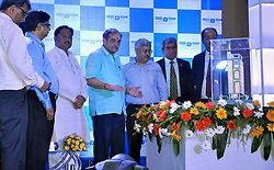 June 15, 2017 - Kolkata, West Bengal, India - Union Minister of Steel, Govt. of India, Chaudhary Birender Singh and Minister of State (Steel), Vishnu Deo Sai with others unveiling of the foundation Stone of Metal Scrap Trade Corporation(MSTC) corporate building. (Credit Image: © Saikat Paul/Pacific Press via ZUMA Wire)