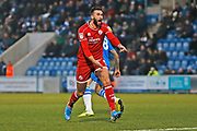 Ollie Palmer in action during the EFL Sky Bet League 2 match between Colchester United and Crawley Town at the JobServe Community Stadium, Colchester, England on 1 January 2020.