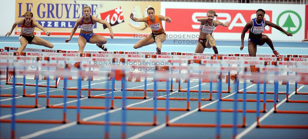 06-03-2009 ATLETIEK: EK INDOOR: TURIJN <br /> Yvonne Wisse wordt derde op de 60 meter horde<br /> &copy;2009-WWW.FOTOHOOGENDOORN.NL