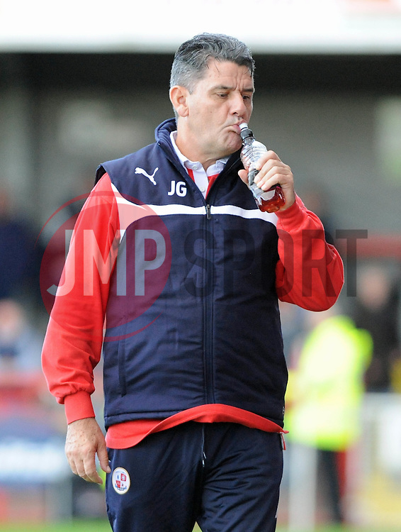 Crawley Town Manager, John Gregory - photo mandatory by-line David Purday JMP- Tel: Mobile 07966 386802 - 11/10/14 - Crawley Town v Peterbourgh United - SPORT - FOOTBALL - Sky Bet Leauge 1  - London - Checkatrade.com Stadium