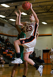 Charlottesvile forward Olivia Levine skies for a layup against William Monroe HS.  The Charlottesville High School Lady Black Knights defeated the William Monroe High School Dragons 48-45 in girls basketball at the CHS Gymnasium in Charlottesville, VA on December 19, 2008.  (Special to the Daily Progress / Jason O. Watson)