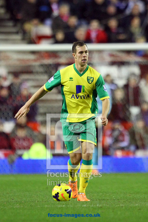 Picture by Paul Chesterton/Focus Images Ltd +44 7904 640267<br /> 21/12/2013<br /> Steven Whittaker of Norwich in action during the Barclays Premier League match at the Stadium Of Light, Sunderland.