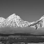 Grand Tetons, WY - Viewpoint - Panoramic - Black & White