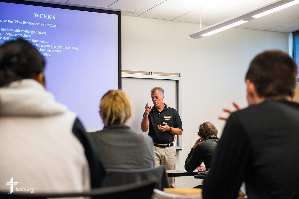 Jon Hamro leads a class at Concordia University Irvine on Wednesday, July 9, 2014, in Irvine, Calif. LCMS Communications/Erik M. Lunsford