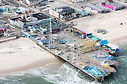 Casino Pier is truncated by Hurricane Sandy.