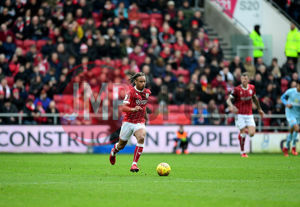 Bobby Reid of Bristol City drives forward  - Mandatory by-line: Joe Meredith/JMP - 10/02/2018 - FOOTBALL - Ashton Gate Stadium - Bristol, England - Bristol City v Sunderland - Sky Bet Championship