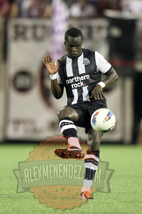 Newcastle United Midfielder Cheik Tiote (24)during an International Friendly soccer match between English Premier League team Newcastle United and the Orlando City Lions of the United Soccer League, at the Florida Citrus Bowl on Saturday, July 23, 2011 in Orlando, Florida. Orlando won the match 1-0. (AP Photo/Alex Menendez)