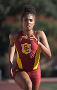Nov 2, 2017; Los Angeles, CA, USA; Southern California Trojans sprinter Kennedy Gillian runs during workout at Cromwell Field.