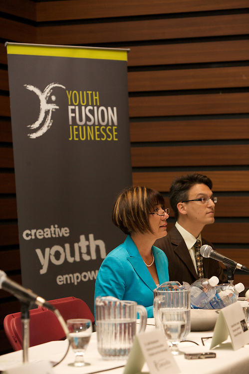 Fusion Jeunesse / Youth Fusion hosts its first press conference of the 2009-10 school year at Concordia University on September 2nd, 2009.