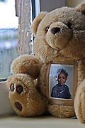 A reminder of children at home in one of the cells at HMP Downview