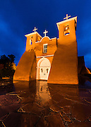 The historic San Francisco de Asis church in Ranchos de Taos, New Mexico.