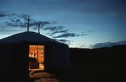 photos from travels in Mongolia - light in ger at dusk<br /> <br /> <br /> Photo must be credited to &quot;Jacques-Jean Tiziou / www.jjtiziou.net&quot; adjacent to the image. Online credits should link to www.jjtiziou.net. Photo may only be used as permitted by the photographer.