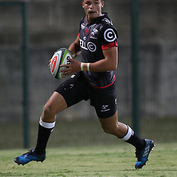 Curwin Bosch of the Cell C Sharks during The Cell C Sharks Pre Season warm up game 2 Cell C Sharks A and Toyota Cheetahs A,at King Zwelithini Stadium, Umlazi, Durban, South Africa. Friday, 3rd February 2017 (Photo by Steve Haag)