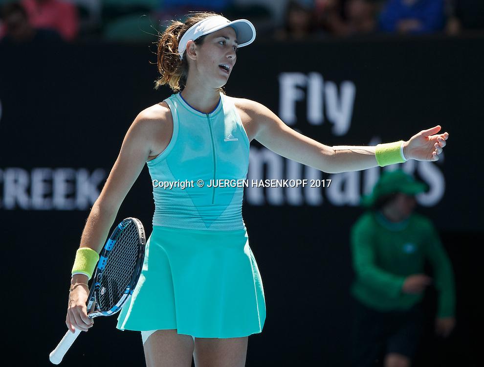 GARBI&Ntilde;E MUGURUZA (ESP) reagiert veraergert,Frust,Emotion<br /> <br /> Australian Open 2017 -  Melbourne  Park - Melbourne - Victoria - Australia  - 24/01/2017.