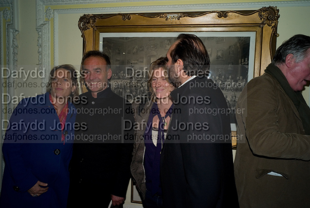 NICK BROOMFIELD; ARABELLA MACMILLAN; DAVID MACMILLAN, The Literary Review Bad sex in Fiction award 2008. The In and Out Club. 4 St. James Square. London SW1. 25 November 2008. *** Local Caption *** -DO NOT ARCHIVE -Copyright Photograph by Dafydd Jones. 248 Clapham Rd. London SW9 0PZ. Tel 0207 820 0771. www.dafjones.com