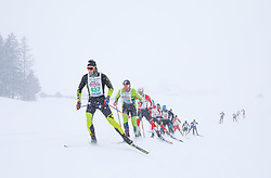 26.01.2019, Bad Mitterndorf, AUT, 40. Internationaler Steiralauf, 50 km Freie Technik, im Bild eine Gruppe von Läufern, angeführt von Simon Kugler (AUT) // during the 40th international Steiralauf 50 km Freestyle in Bad Mitterndorf, Austria on 2019/01/26. EXPA Pictures © 2019, PhotoCredit: EXPA/ Martin Huber